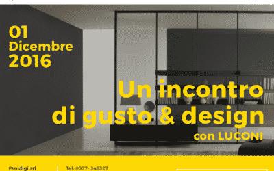Meeting con Luconi srl, giovedì 1 Dicembre